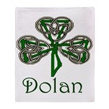 Dolan Shamrock Throw Blanket