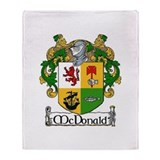 McDonald Coat of Arms Throw Blanket