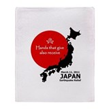 Japan Earthquake Relief Throw Blanket