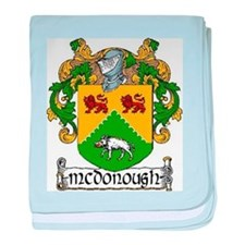 McDonough Coat of Arms baby blanket