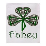 Fahey Shamrock Throw Blanket