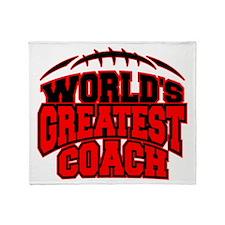 Red World's Greatest Coach Football Stadium Blank