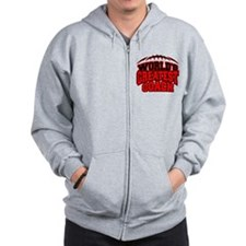 Red World's Greatest Coach Football Zip Hoodie