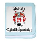 Flaherty In Irish & English baby blanket