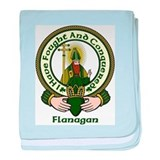 Flanagan Clan Motto baby blanket