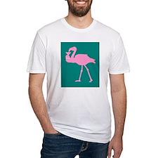 Pink Flamingo With Martini On Shirt