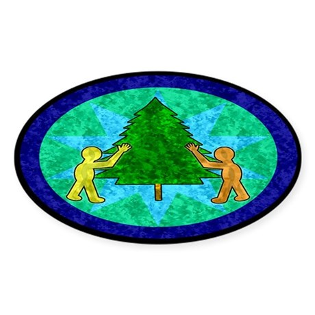Tree Hugger Oval Sticker