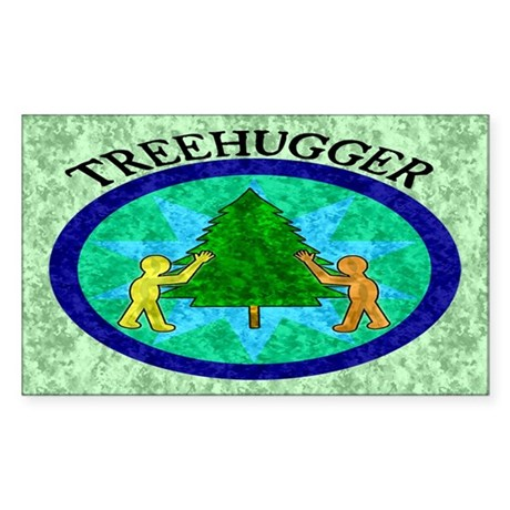 Tree Hugger Rectangle Sticker