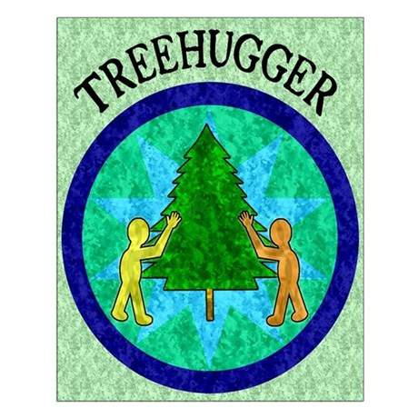Tree Hugger Small Poster