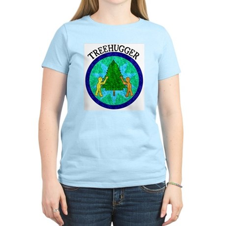 Tree Hugger Women's Pink T-Shirt