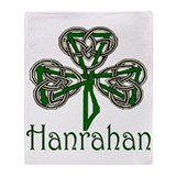 Hanrahan Shamrock Throw Blanket