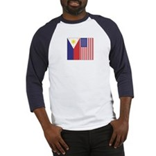 Philippine & US Flags Baseball Jersey