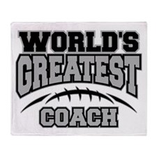 Grey World's Greatest Coach Football Stadium Blan