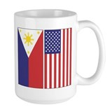 Philippine and US Flags Coffee Mug