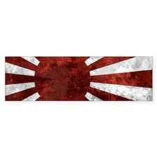 Japanese Rising Sun Flag Bumper Sticker