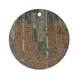 Birch Forest Ornament (Round)