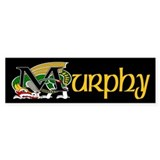 Murphy Celtic Dragon Bumper Bumper Sticker