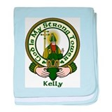 Kelly Clan Motto baby blanket