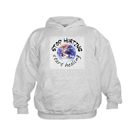 Stop Hurting Earth Kids Hoodie