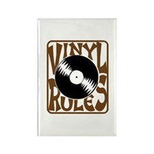 Vinyl Rules Rectangle Magnet