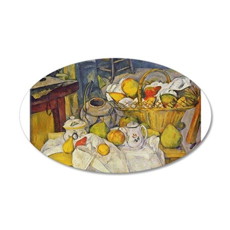Still Life with Fruit Basket 38.5 x 24.5 Oval Wall