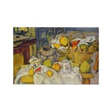 Still Life with Fruit Basket Rectangle Magnet