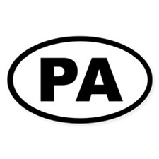 PENNSYLVANIA STATE OVAL STICKERS Oval Decal