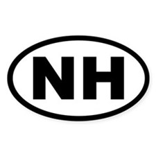 NEW HAMPSHIRE STATE OVAL STICKERS Oval Decal