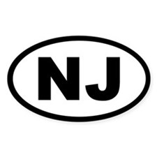 NEW JERSEY STATE OVAL STICKERS Oval Decal