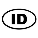 IDAHO STATE OVAL STICKERS Oval Decal