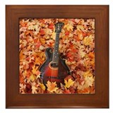 Gibson Mandola in Autumn Leaves Framed Tile