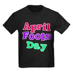 April Fool's Day 2 Kids Dark T-Shirt