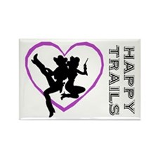 """Happy Trails Lesbians"" Rectangle Magnet (10 pack)"