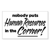 HR Nobody Corner Decal