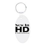HD Aluminum Oval Keychain