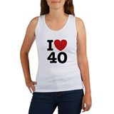 I Love 40 Women's Tank Top