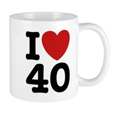 I Love 40 Coffee Mug