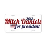 Mitch Daniels 2012 Aluminum License Plate