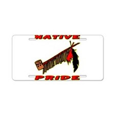 Native Pride #021 Aluminum License Plate
