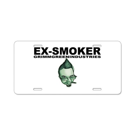 Ex-Smoker Aluminum License Plate