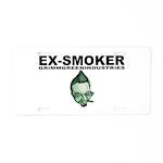 Ex-Smoker Aluminum License Plate