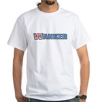 Wanker White T-Shirt
