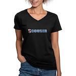 Scouser Women's V-Neck Dark T-Shirt