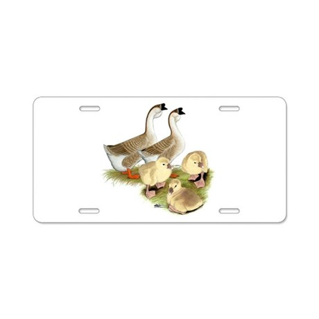 Buff African Goose Family Aluminum License Plate