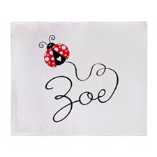 Ladybug Zoe Throw Blanket