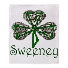 Sweeney Shamrock Throw Blanket