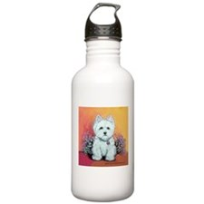 West Highland White Portrait Water Bottle