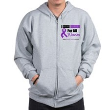 Purple Ribbon All Women Zip Hoodie