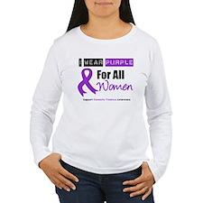 Purple Ribbon All Women T-Shirt