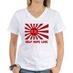 Help Hope Love Women's V-Neck T-Shirt